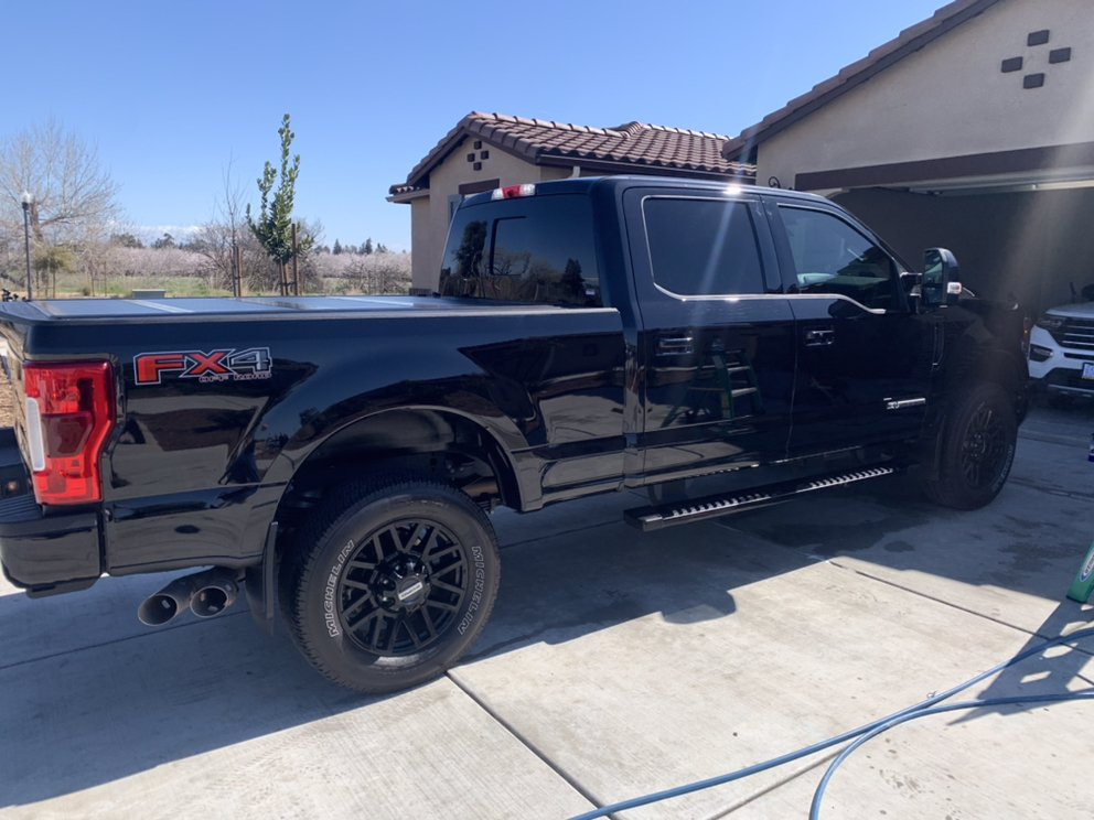 Black truck fully detailed by Danny Spotless Touch
